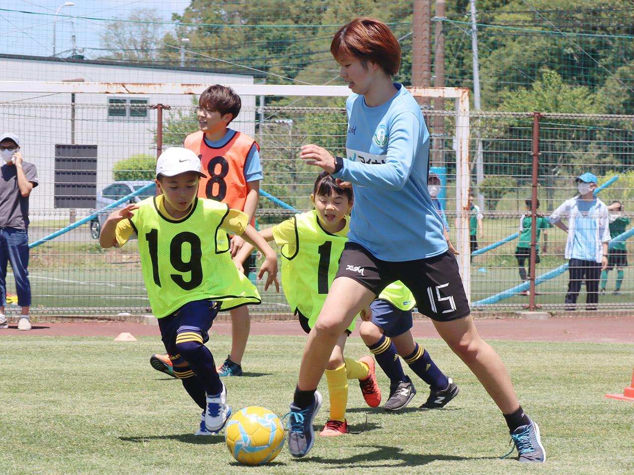マイナビ仙台レディース 未来プロジェクトサッカー教室